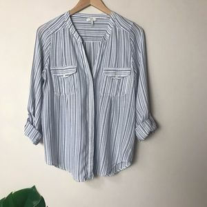 Joie | Kalanchoe Striepd Roll Tab Button Down Top